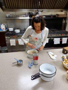 Sue Kitz prepares the