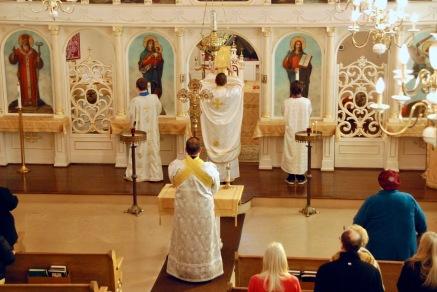 Fr. Andriy Kovach, Joseph Harden, Thomas Harden, Subdeacon John Harden