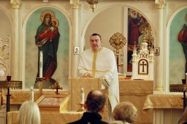 Fr. Andriy Kovach preaching